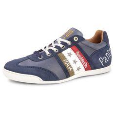 Op voetbal geinspireerde trendy en sportieve heren schoen van Pantofola dÓro. Het bovenwerk is uitgevoerd in leder en deze sneaker heeft een comfortabele pasvorm.