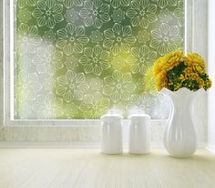 """Blossom Blickschutzfolie Standard 36 """"x 2019 Blossom Privacy Window Film Standard 36 in. The post Blossom Blickschutzfolie Standard 36 """"x 2019 appeared first on Sichtschutz. Modern Window Film, Window Films, Interior Windows, Interior And Exterior, Interior Design, Commercial Planters, Tinted House Windows, Paisley, Frosted Window Film"""