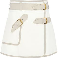 White Cotton Utility Wrap Skirt by Derek Lam 10 Crosby Now Available on Moda Operandi Structured Fashion, Embellished Skirt, Kylie Jenner Outfits, Cute Skirts, Wrap Skirts, Derek Lam, Classy Outfits, Skirt Fashion, Luxury Fashion