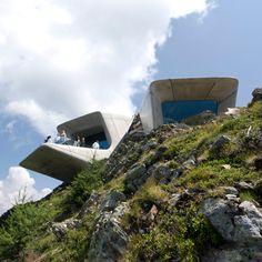 The Messner Mountain Museum Corones, on top of Mount Kronplatz,- Bolzano/ zaha hadid architectcs