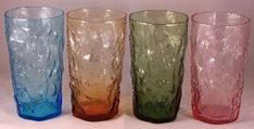 Morgantown Crinkle glass...we would go to the factory and watch it being made. Fun.