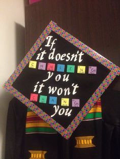 Because I graduated and this was my cap btw I was a chemistry major #DIY #graduationcap