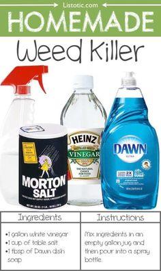 3 Ingredient Weed Killer