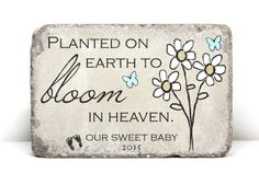 Miscarriage Memorial Stone. PERSONALIZED Gift. by blessingandlight