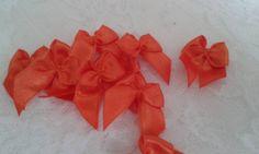 Lacinho de cetim decorativo laranja