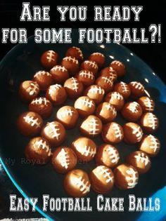 Hut, Hut...Hike!! Football Cake Balls! Score! - My Royal Kitchen