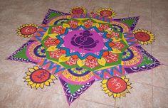 Rangoli - Arte indiana de flores