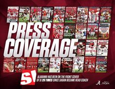 Alabama has been on the front cover of Sports Illustrated 26 times since Nick Saban became head coach #Alabama #RollTide #BuiltByBama #Bama #BamaNation #CrimsonTide #RTR #Tide #RammerJammer