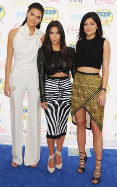 Kendall, Kim, & Kylie look sleek and chic as always in different variations of neutrals. // #Fashion