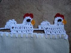 Little Hen Lace :: Free #Crochet Edging Patterns!