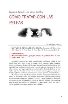 Leccion adultos cómo tratar las peleas by Escuela Sabatica via slideshare #LESAdv Descargue aqui: http://gramadal.wordpress.com/