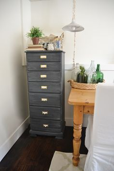 DIY Antique Office Drawers Makeover -