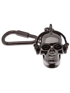 PAUL SMITH, SKULL KEYCHAIN: i'm so giggly and happy that it's wearing headphones.