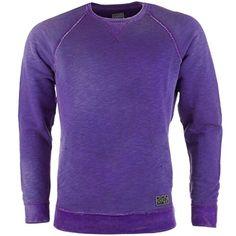 Diesel Sfuso - Sweat avec col rond - pour hommes - coton - violet