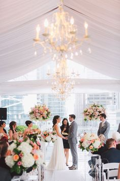 luxury wedding ceremony idea; photo: Purple Tree Photography