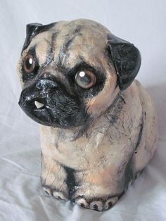 Hey, I found this really awesome Etsy listing at https://www.etsy.com/ca/listing/246346845/paper-mache-pug