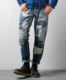 Tight Jeans Men, Jeans Pants, Denim Jeans, Mens Fashion, Fashion Outfits, Denim Outfit, Boro, Vintage Denim, Jeans Style