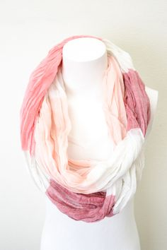 Piace Boutique - Colorblock Infinity Scarf (Pink), $14.00 (http://www.piaceboutique.com/colorblock-infinity-scarf-pink/)