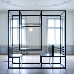 open frame to define space within space