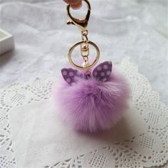 Cool Gifts Pompom Keychain Faux Rabbit Fur Ball Keychain For Car Bag Plush Car Key Ring Car Key Holder Small Pendant Feida Cool Car Accessories, Interior Accessories, Car Key Holder, Car Key Ring, Cute Keychain, Key Pendant, Girls Bags, Rabbit Fur, Name Necklace