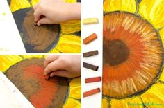 These chalk pastel sunflowers are so colorful and beautiful! Kids will learn easy chalk pastel techniques to create this fun sunflower art project! Chalk Pastel Art, Oil Pastel Art, Chalk Pastels, Sunflower Crafts, Sunflower Art, Fall Art Projects, Projects For Kids, Kids Crafts, Painting For Kids