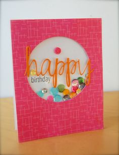 Sequin Shaker Birthday Card {AE Challenge} cas?