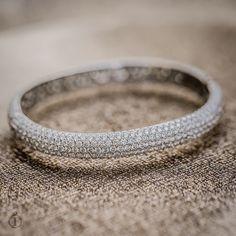 A diamond bangle that makes a statement.