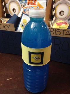 Minion juice bottles