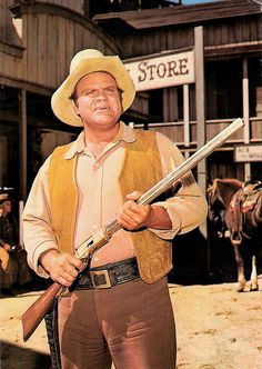 Bonanza - Dan Blocker as Hoss Merle Oberon, Old Western Movies, Western Film, Western Cowboy, Bonanza Tv Show, Vintage Tv, Vintage Horror, Vintage Movies, Tv Westerns