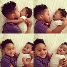 """Find and save images from the """"Cute Babies&children👶😘"""" collection by Sharna (_sharnaaa) on We Heart It, your everyday app to get lost in what you love. Cute Family, Baby Family, Family Goals, Baby Kind, Pretty Baby, Baby Love, Beautiful Black Babies, Beautiful Children, Cute Kids"""