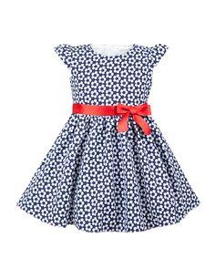 17c228fc9d Sukienka z kwiecistym motywem 86-116 Kornelia granatowa