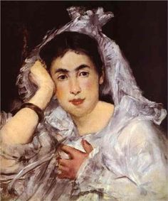Marguerite de Conflans Wearing Hood - Edouard Manet  Discover the coolest shows in New York at www.artexperience...