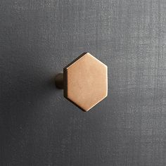 Popular in bathrooms and kitchens, the hexagon adds a sophisticated graphic element to doors and drawers. Handmade of solid brass, knob ups the design factor of existing cabinets. Hex Knobs is a exclusive. Brass Drawer Pulls, Knobs And Pulls, Drawer Knobs, Kitchen Cabinet Hardware, Cabinet Knobs, Bed Cabinet, Door Knobs, Best Kitchen Layout, Kitchen Design