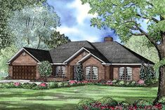 See the Chelmsford Trail Ranch Home that has 4 bedrooms, 2 full baths and 1 half bath from House Plans and More. See amenities for Plan Ranch House Plans, Cottage House Plans, Dream House Plans, Cottage Homes, House Floor Plans, My Dream Home, Dream Houses, Nice Houses, European Plan