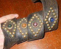 Vintage 1920's 1930's Studded Glass Jeweled Western or Motorcycle~Stud Belt| eBay