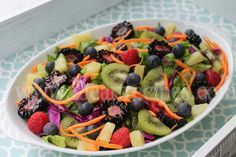 Paradise Spring Salad Spring Salad, Summer Salads, Fruit Salad Recipes, Mexican Food Recipes, Cajun Mac And Cheese Recipe, Red Cabbage Salad, I Heart Recipes, Salad Dishes, Delicious Fruit