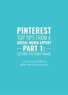 Set yourself up for success on Pinterest by choosing the right image. Tips about optimal images size and more here.