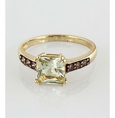 Product: Effy® Brown Diamond & Green Amethyst Ring