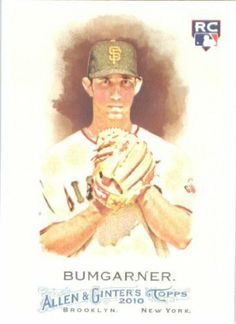 2010 Topps Allen & Ginter Baseball Rookie Card # 6 Madison Bumgarner RC - San Francisco Giants (RC - Rookie Card)- MLB Trading Card in Screwdown Case by Topps. $5.95. Card is shipped in a protective screwdown storage case!. Check out other listings for more great 2010 baseball singles !. Great looking 2010 Topps Allen & Ginter Baseball Card!. This is one of the 100s of cards being offered from this gorgeous series of cards!. NOTE: Stock Image is Used. Any Questio...