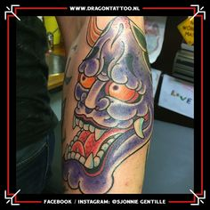 Hannya mask on forearm. Designed and Tattooed by: Sjonnie Gentille Dragon Tattoo. Dad Tattoos, Religious Images, Top Artists, Dragon, Style, Swag, Father Tattoos, Dragons, Outfits