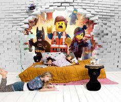 Papier peint 3d sur mesure pour enfant on pinterest minions heroes and html - Papier peint chambre garcon 7 ans ...