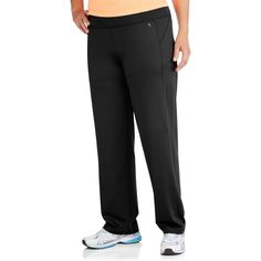 8acb4655fe548b Danskin Now Women's Plus-Size Performance Straight Leg Pants, Available in  Regular and Petite Lengths, Size: Black