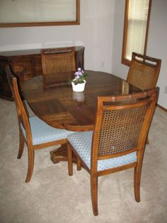 Dining Room Table, Credenza, End Tables