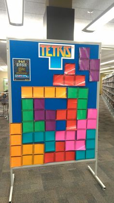 Teens, don't miss our Bash this Wednesday. This life-sized Tetris game is just a bit of the fun we have planned: Teens, don't miss our Bash this Wednesday. This life-sized Tetris game is just a bit of the fun we have planned: Library Games, Teen Library, Library Activities, Activities For Teens, Games For Teens, Library Ideas, Library Lessons, Teen Programs, Library Programs