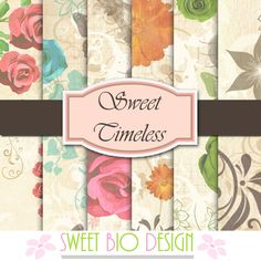 Sweet Bio design: Set di Carte Sweet Timeless - Sweet Timeless  Pape...