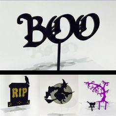 Happy #Halloween2015! #caketoppers #lasercut by wishful_studio