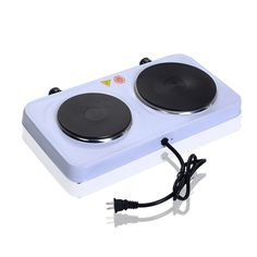 Electric Double Burner Hot Plate Portable Stove Heater Countertop Cooking