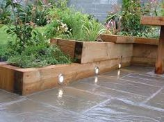 Image result for raised flower beds patio unusual