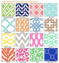 Haymarket's designs and patterns