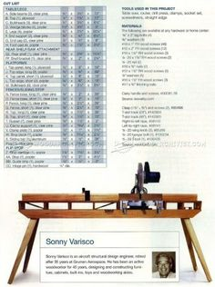 Folding Miter Saw Table Plans - Miter Saw